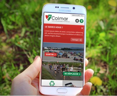 application de la ville de Colmar sur smartphone